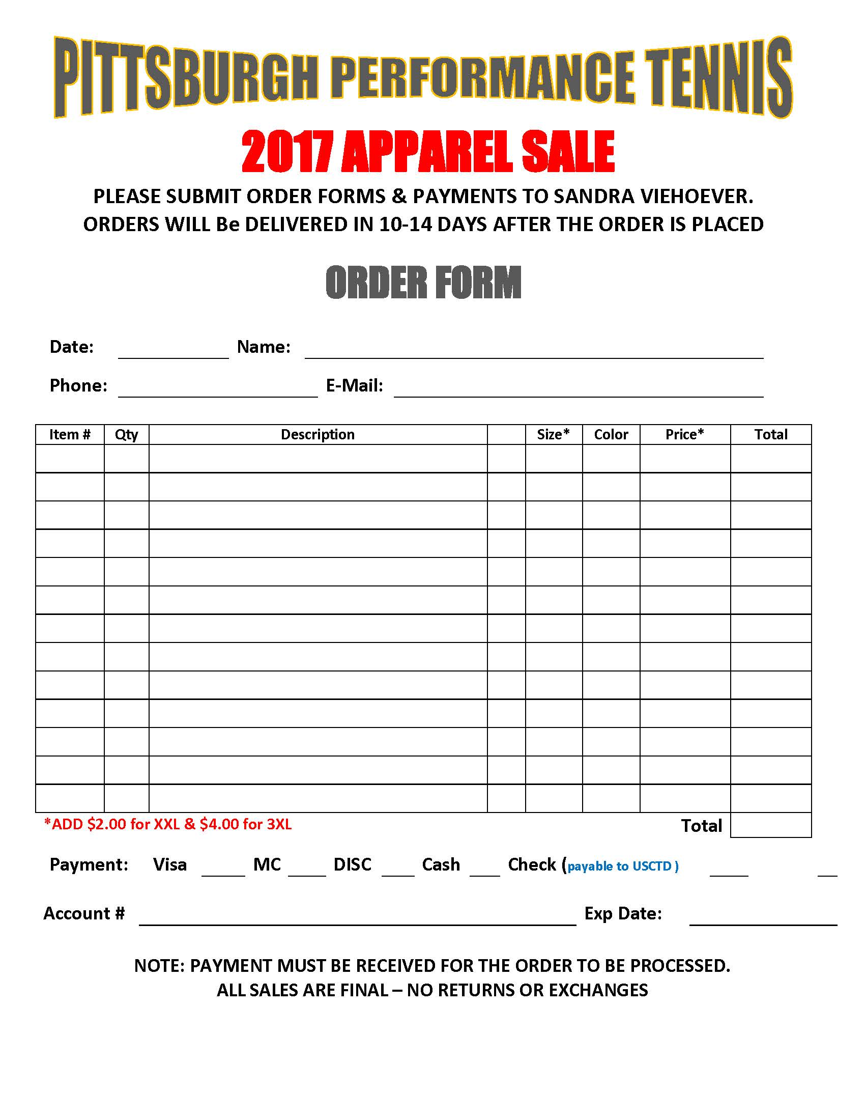 USC TENNIS Order Form 2017 Page 3